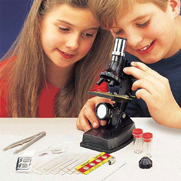 Microscope Set With Light And Projector