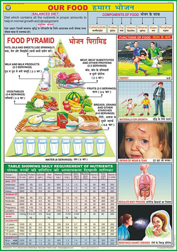 Charts on Food and Nutrition